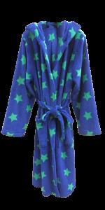 2 BS 0090 Boy's 100% Polyester Coral Fleece Star Print Robe, 240gsm