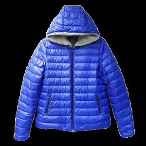 4 LS 2987 Ladies reversible jacket shaggy fleece with kangraoo pocket