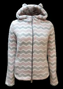 4 LS 3327 Ladies jacket 100 poly flannel fleece glue print 280gsm