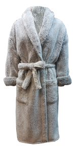 6 LS 3402 100% polyester long pile shaggy fleece 350gsm_Robe front