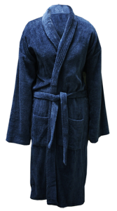 6 MSLP 5009 Mens 100% cotton velour terry knitted robe