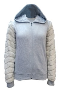 2 LS 3268(Front) Body 65% Polyester 35% Cotton fleece 270gsm ,Sleeves Bunny Fur