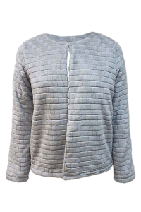 3 LS 3609(Front) 100% Polyester jacquard flannel fleece 300gsm